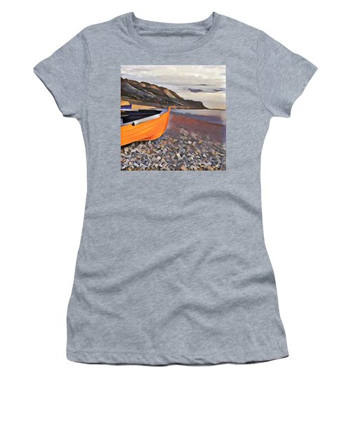 Chesil Beach Women's T-Shirt (Athletic Fit)