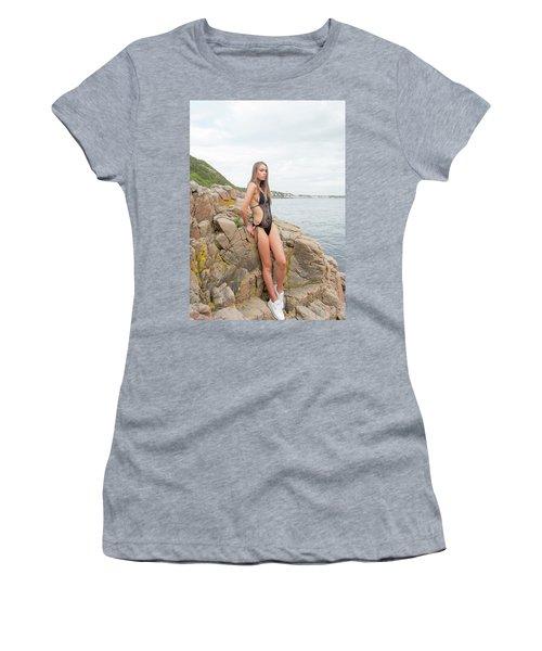 Girl In Black Swimsuit Women's T-Shirt