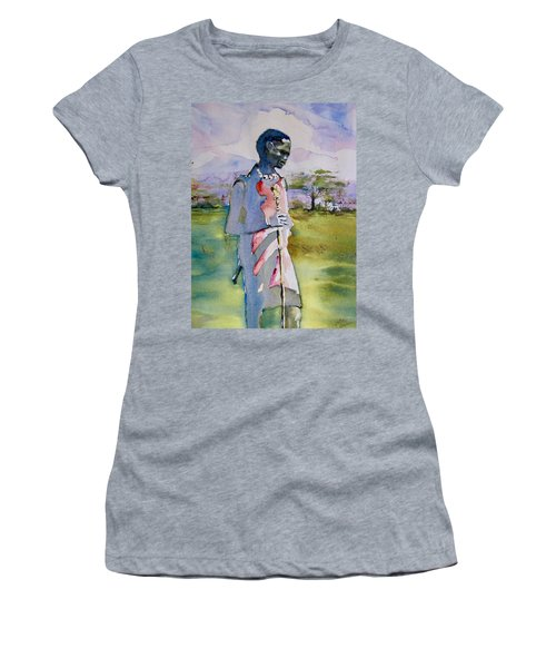 Masaai Boy Women's T-Shirt (Athletic Fit)