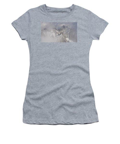 Mist At Aiguille Du Midi Women's T-Shirt (Athletic Fit)