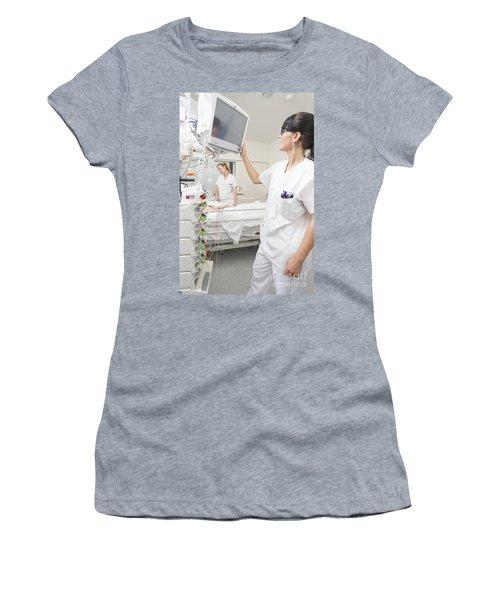 Nurse Checking On Patient Women's T-Shirt