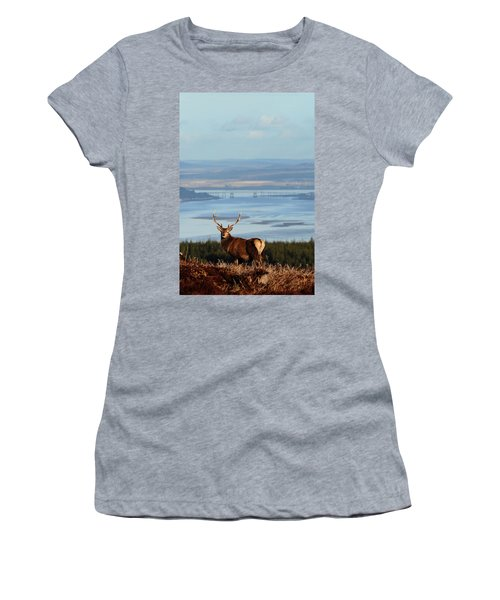 Stag Overlooking The Beauly Firth And Inverness Women's T-Shirt