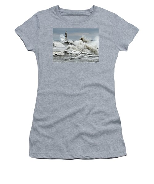 The Angry Sea Women's T-Shirt (Athletic Fit)