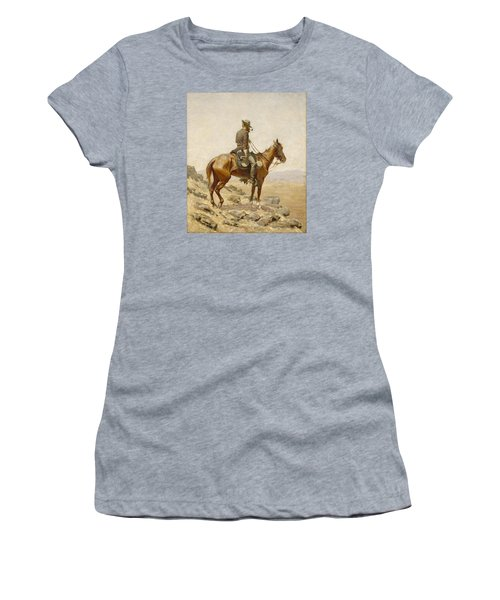 The Lookout Women's T-Shirt (Junior Cut) by Frederic Remington