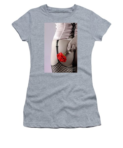 Woman With A Carnation Women's T-Shirt (Athletic Fit)