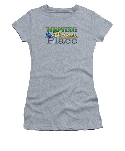 Writing Is My Happy Place Women's T-Shirt (Athletic Fit)