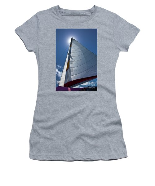 Sea And Clouds Women's T-Shirt (Athletic Fit)