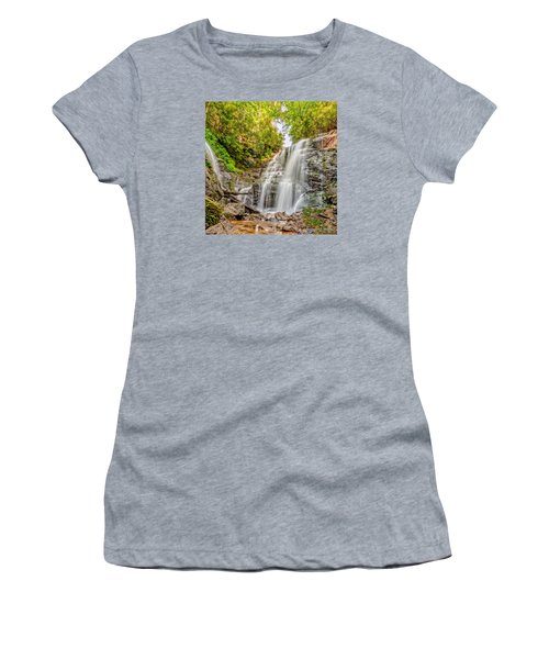 Women's T-Shirt (Junior Cut) featuring the photograph Rocky Falls by Christopher Holmes
