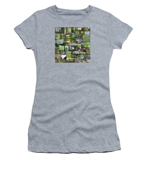 2015 Pdga Amateur Disc Golf World Championships Photo Collage Women's T-Shirt (Athletic Fit)