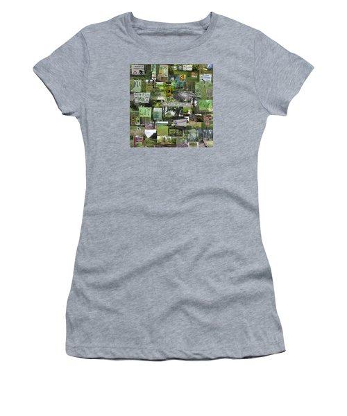 2015 Pdga Amateur Disc Golf World Championships Photo Collage Women's T-Shirt (Junior Cut)
