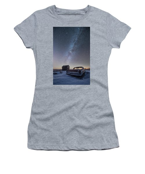 3 Galaxies  Women's T-Shirt (Junior Cut) by Aaron J Groen