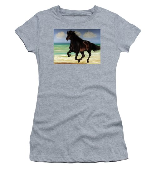 Horses In Paradise  Run Women's T-Shirt