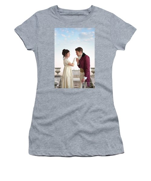 Regency Couple  Women's T-Shirt (Junior Cut) by Lee Avison