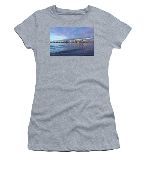 Seattle Skyline Cityscape Women's T-Shirt (Athletic Fit)