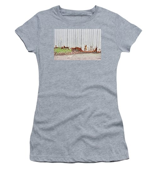 Rusty Metal Women's T-Shirt (Athletic Fit)