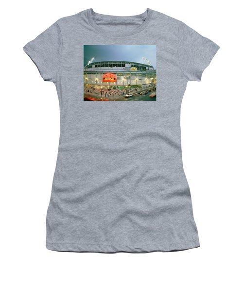 High Angle View Of Tourists Women's T-Shirt