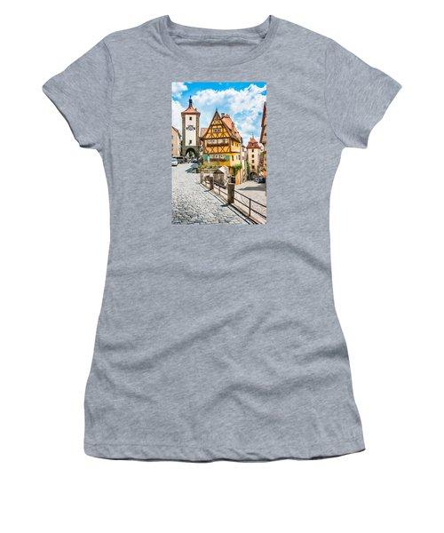 Rothenburg Ob Der Tauber Women's T-Shirt (Junior Cut) by JR Photography