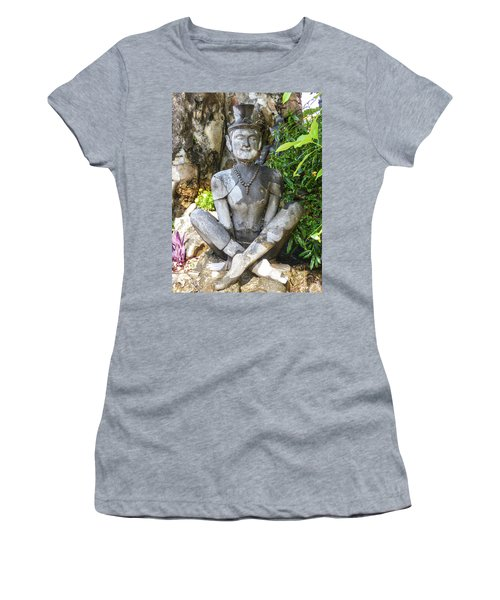 Statue Depicting A Thai Yoga Pose At Wat Pho Temple Women's T-Shirt