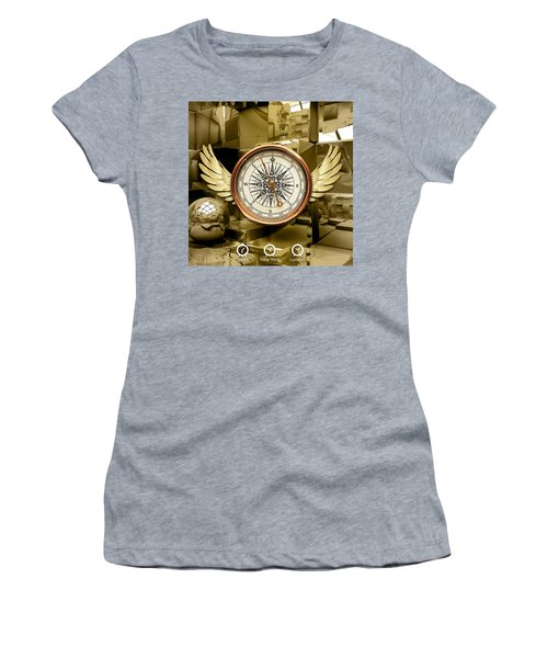 Women's T-Shirt (Athletic Fit) featuring the mixed media Journey by Marvin Blaine