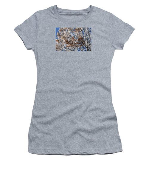 Women's T-Shirt (Junior Cut) featuring the photograph Hoar Frost by Dacia Doroff