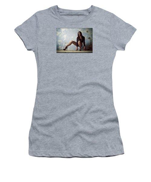 Waiting For.. Women's T-Shirt (Junior Cut) by Shlomo Zangilevitch