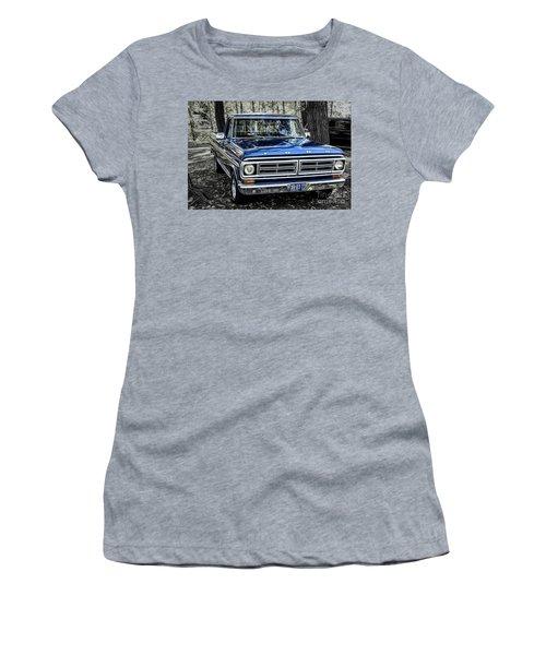 Women's T-Shirt (Junior Cut) featuring the photograph 73 Ford Pickup by Brad Allen Fine Art