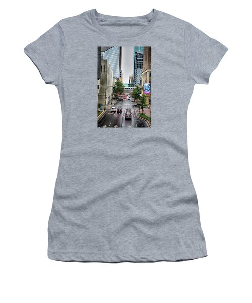 Women's T-Shirt featuring the photograph Charlotte North Carolina Views Around  Downtown by Alex Grichenko