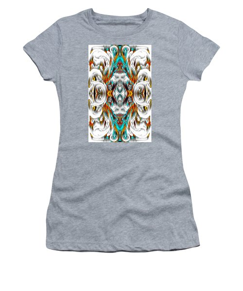 Women's T-Shirt (Athletic Fit) featuring the digital art 992.042212mirror2ornategold-1-a by Kris Haas