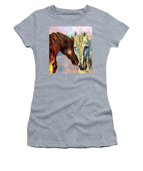 A Couple Of Horses Women's T-Shirt (Athletic Fit)