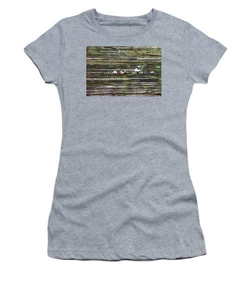 A Landscape With A Farm Women's T-Shirt (Athletic Fit)