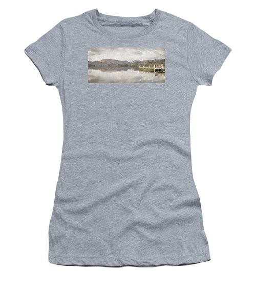 Women's T-Shirt (Athletic Fit) featuring the photograph A Misty Ullswater by RKAB Works