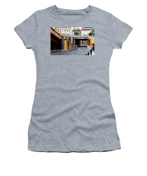 A Throughway Of Many Colors Women's T-Shirt (Junior Cut) by Lorraine Devon Wilke