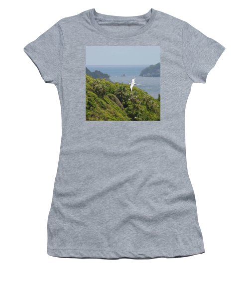 A Red-billed Tropicbird (phaethon Women's T-Shirt