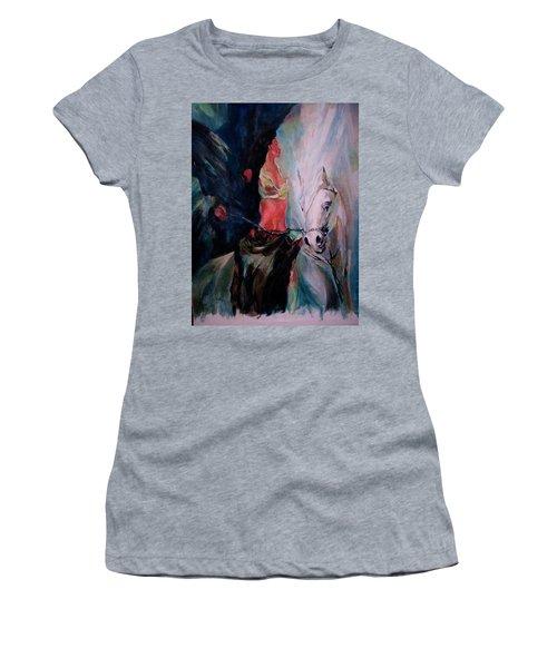 A Rider Women's T-Shirt (Junior Cut) by Khalid Saeed