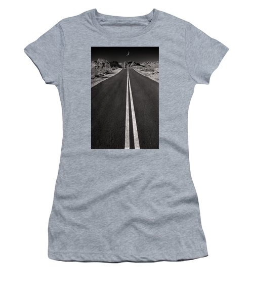 A Road With A Moon  Women's T-Shirt