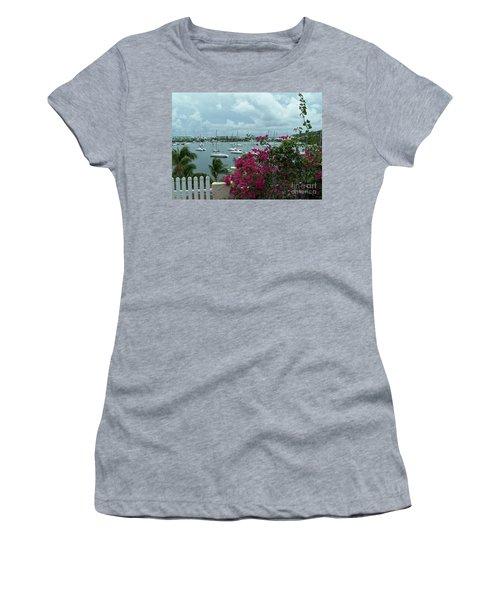 A St Maarten Marina Women's T-Shirt (Athletic Fit)