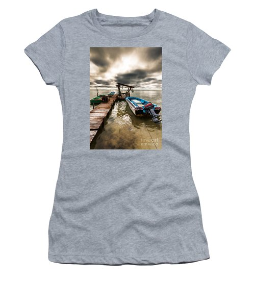 Women's T-Shirt (Junior Cut) featuring the photograph A Storm Brewing by Lawrence Burry