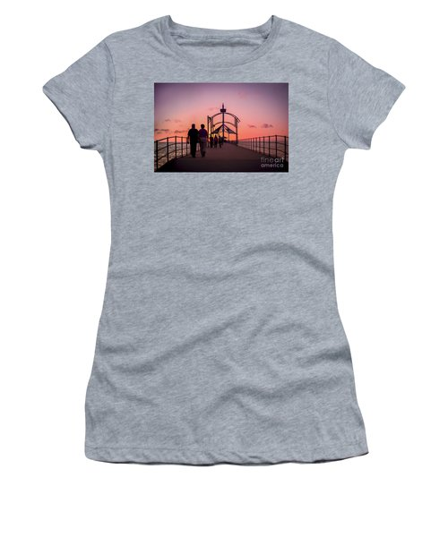 A Stroll Along Sunset Pier Women's T-Shirt
