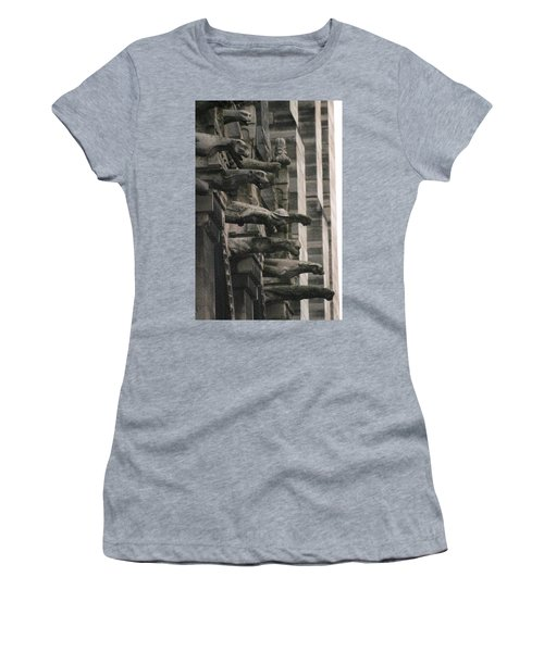A Wall Of Gargoyles Notre Dame Cathedral Women's T-Shirt