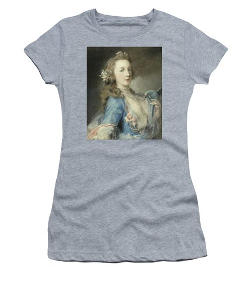 A Young Lady With A Parrot Women's T-Shirt (Athletic Fit)