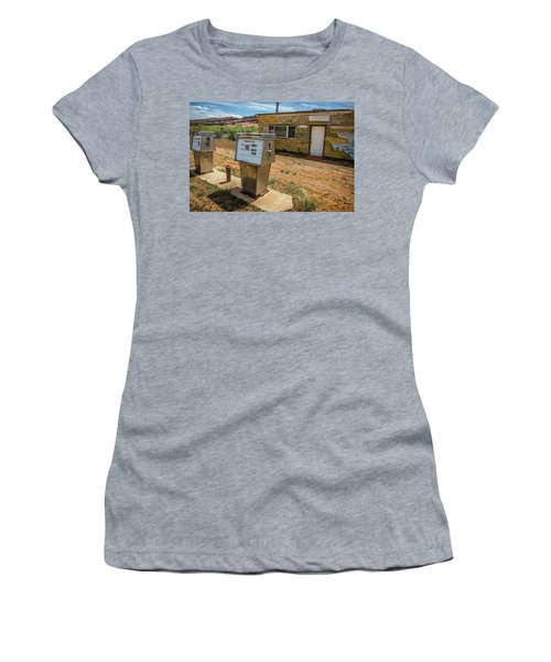 Abandoned Gas Station Women's T-Shirt (Athletic Fit)