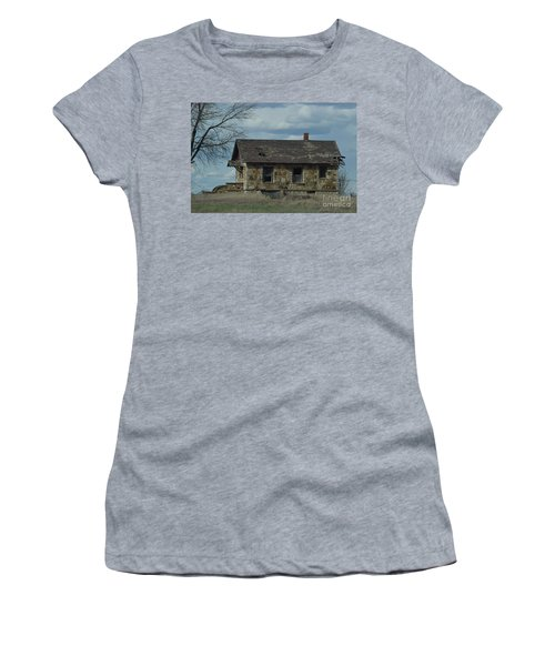 Abandoned Kansas Stone House Women's T-Shirt (Athletic Fit)