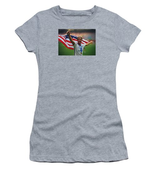 Abby Wambach Us Soccer Women's T-Shirt (Athletic Fit)
