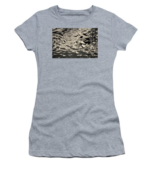 Women's T-Shirt featuring the photograph Abstract Dock Reflections I Toned by David Gordon