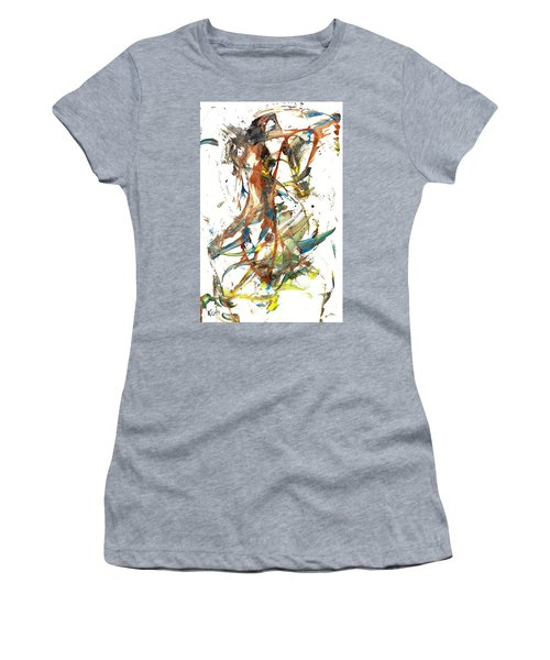Women's T-Shirt (Athletic Fit) featuring the painting Abstract Expressionism Painting Series 1039.050812 by Kris Haas