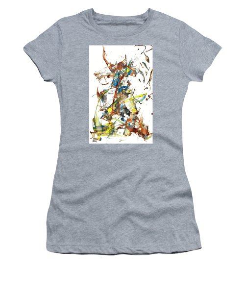 Women's T-Shirt (Athletic Fit) featuring the painting Abstract Expressionism Painting Series 1040.050812 by Kris Haas
