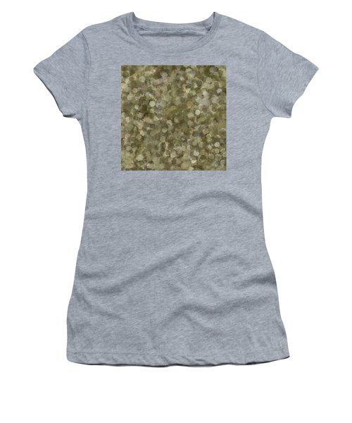 Women's T-Shirt featuring the photograph Abstract Gold And Cream 2 by Clare Bambers