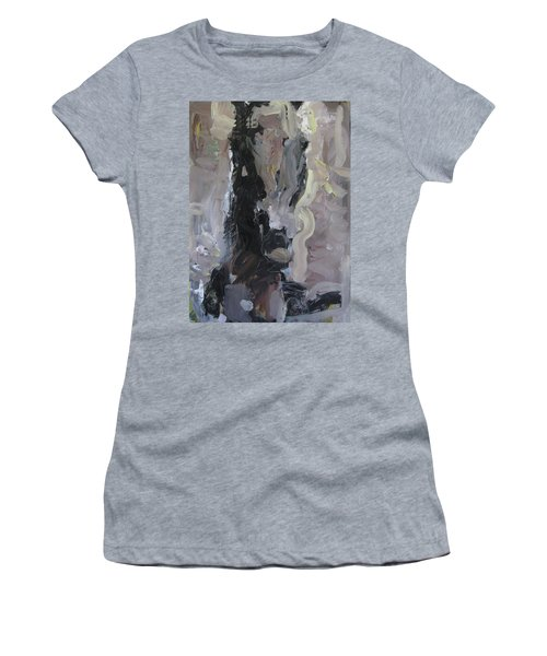 Women's T-Shirt (Junior Cut) featuring the painting Abstract Horse Painting by Robert Joyner