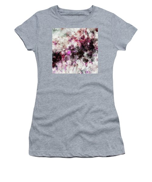 Abstract Landscape Painting In Purple And Pink Tones Women's T-Shirt (Junior Cut) by Ayse Deniz