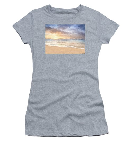 Abstract Morning Tide Women's T-Shirt (Junior Cut) by Anthony Fishburne